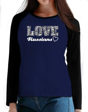 Love Russians T-Shirt - Raglan Long Sleeve-Womens