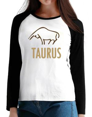 Taurus - Cartoon T-Shirt - Raglan Long Sleeve-Womens