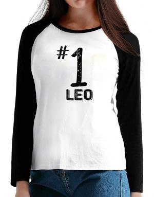 Number 1 Leo T-Shirt - Raglan Long Sleeve-Womens