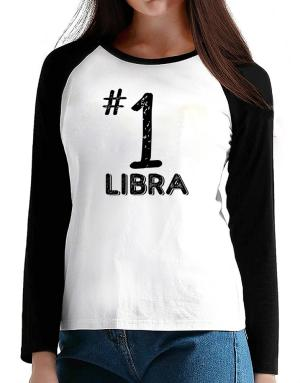 Number 1 Libra T-Shirt - Raglan Long Sleeve-Womens