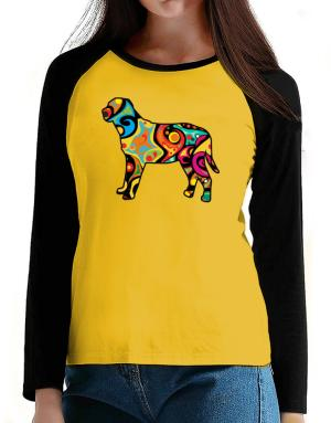 Psychedelic Broholmer T-Shirt - Raglan Long Sleeve-Womens