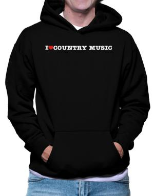 Polera Con Capucha de I Love Country Music