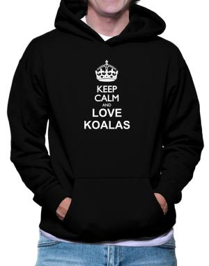 Polera Con Capucha de Keep calm and love Koalas