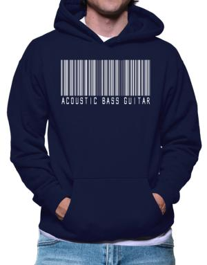 Acoustic Bass Guitar Barcode Hoodie
