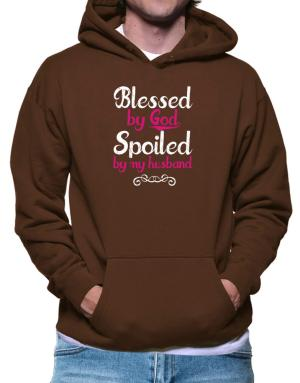 Polera Con Capucha de Blessed by god spoiled by my husband