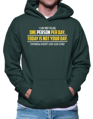 I can only please one person per day Hoodie