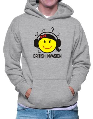 British Invasion - Female Smiley Hoodie