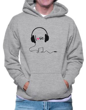 Headphones love music Hoodie