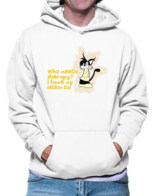 Who Needs Therapy? I Have My Aegean Cat Hoodie