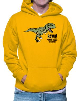 Polera Con Capucha de Rawr means I Love You in dinosaur