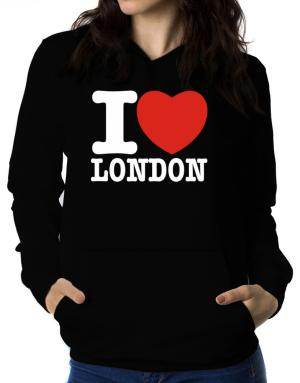 I Love London Women Hoodie