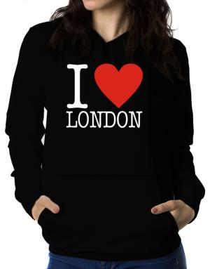I Love London Classic Women Hoodie
