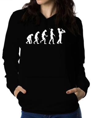 Sudaderas Con Capucha de Saxophone Player Evolution