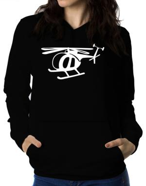 Mini Helicopter Women Hoodie