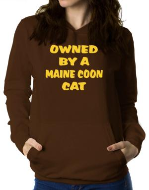 Owned By S Maine Coon Women Hoodie