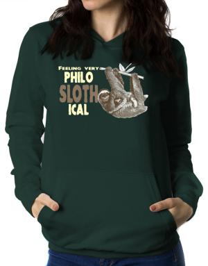 Philosophical Sloth Women Hoodie