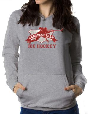 Polera Con Capucha de Canadian team ice hockey Canada