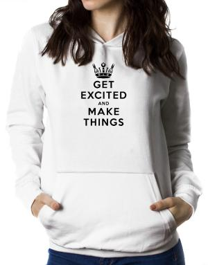 Polera Con Capucha de Get Excited and Make Things