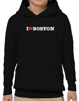 I Love Boston Hoodie-Boys