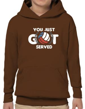 You just got served volleyball Hoodie-Boys