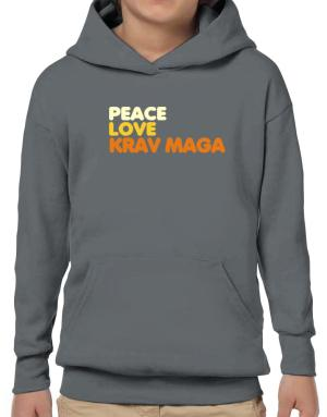 Poleras Con Capucha de Peace , Love And Krav Maga