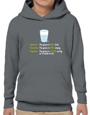 Poleras Con Capucha de Optimist pessimist engineer glass problem