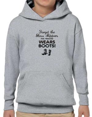 Sudaderas con Capucha para Niños de Forget the glass slippers, this princess wears boots!