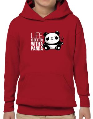 Life is better with a panda Hoodie-Boys