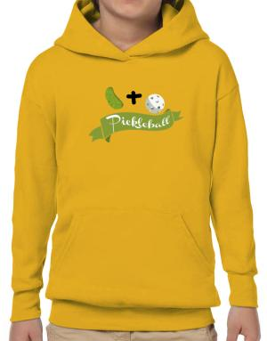 Poleras Con Capucha de Pickle plus ball equals pickleball