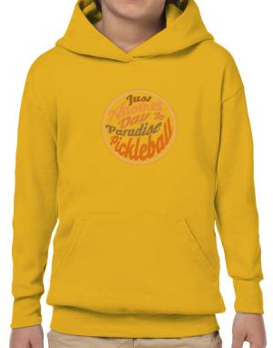 Just another day in paradise pickleball Hoodie-Boys