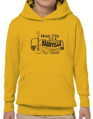 Music city Usa Nashville Tennessee Hoodie-Boys