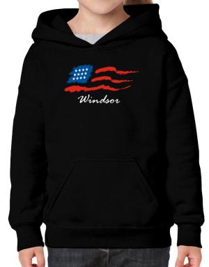 Windsor - Us Flag Hoodie-Girls