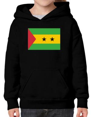 Sao Tome And Principe Flag Hoodie-Girls