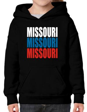 Triple Color Missouri Hoodie-Girls