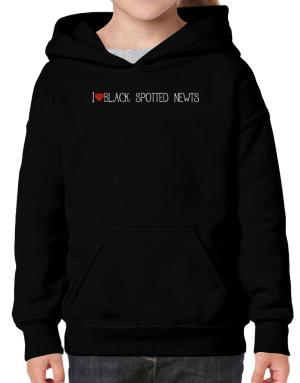 I love Black Spotted Newts cool style Hoodie-Girls