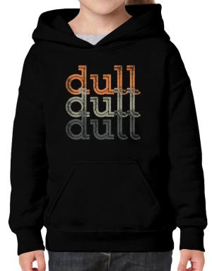 dull  repeat retro Hoodie-Girls