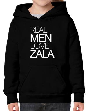 Real men love Zala Hoodie-Girls