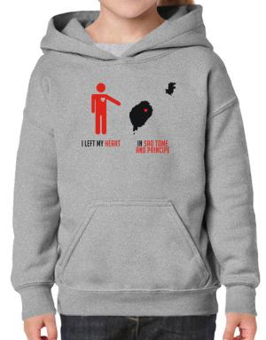 I Left My Heart In Sao Tome And Principe - Map Hoodie-Girls