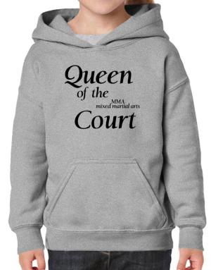 Queen of the MMA Mixed Martial Arts court Hoodie-Girls