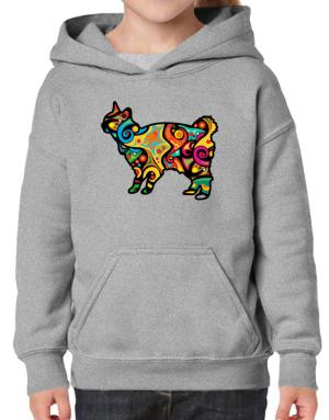 Psychedelic Japanese Bobtail Hoodie-Girls