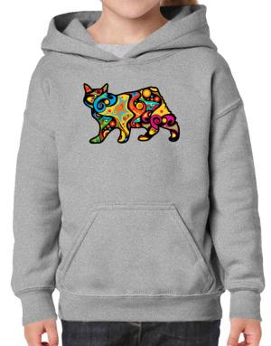 Psychedelic Manx Hoodie-Girls