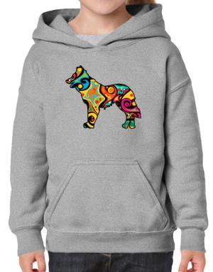 Psychedelic Northern Inuit Dog Hoodie-Girls