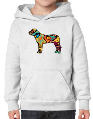 Psychedelic Mountain Cur Hoodie-Girls