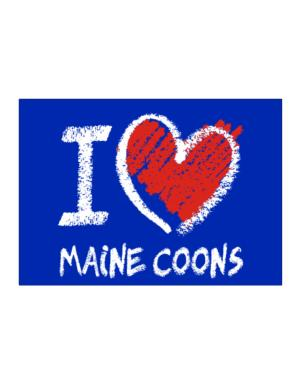 I love Maine Coons chalk style Sticker