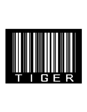Tiger Barcode / Bar Code Sticker