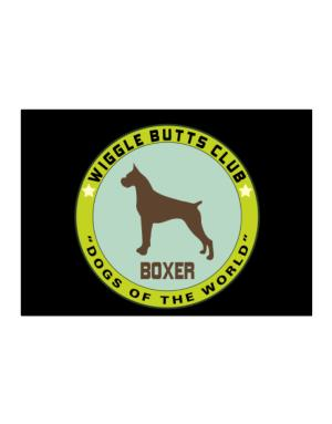 Boxer - Wiggle Butts Club Sticker