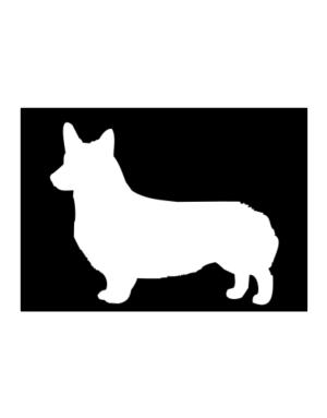 Pembroke Welsh Corgi Silhouette Embroidery Sticker