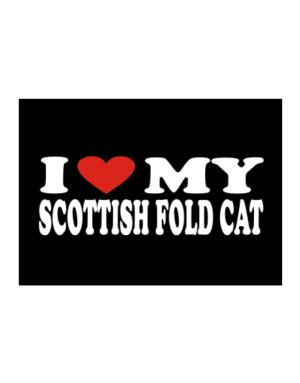 I Love My Scottish Fold Sticker