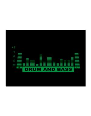 Drum And Bass - Equalizer Sticker