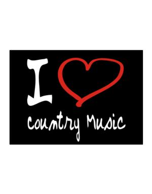 I Love Country Music Sticker